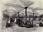 Marshall's flax-mill, Holbeck, Leeds - interior - c.1800