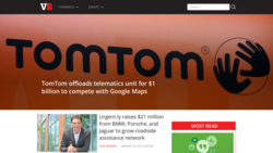 VentureBeat home page screenshot