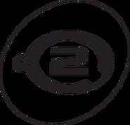 Network 2 TELEVISION LOGO 1988