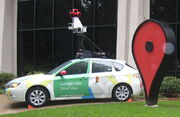 GoogleStreetViewCar Subaru Impreza at Google Campus