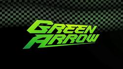 Green arrow title banner