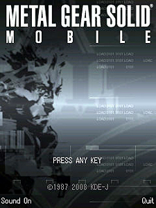 Metal Gear Solid Mobile Title Screen