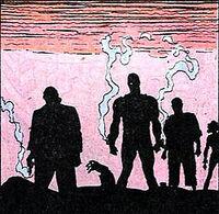 Amanda Waller, Deadshot, Ravan, and Poison Ivy, having just committed mass murder