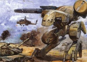 Metal Gear REX illustration, by Yoshiyuki Takani