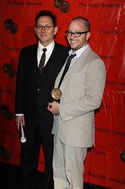 Michael Emerson and Damon Lindelof at the 68th Annual Peabody Awards for Lost