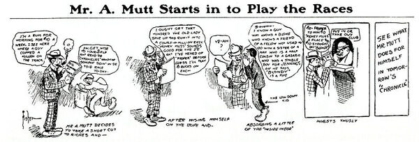 Five-panel comic strip.