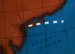 Gotham Map Batman The Animated Series