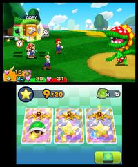 3DS Mario LuigiPaperJam scrn01 E3