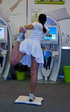 Wii Fit girl at Igromir 2009 (4082096812)