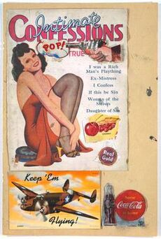 """An image of a sexy woman smiles as a revolver aimed at her head goes """"Pop!"""""""