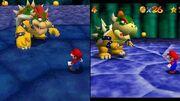 Super Mario 64 DS-Graphics comparison