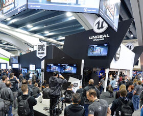 Unreal Engine booth (cropped)