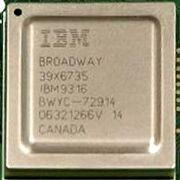 Square computer chip