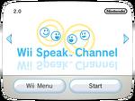 Wii Speak Channel titlescreen