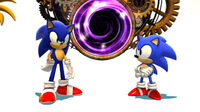 Modern Sonic and Classic Sonic Sonic Generations