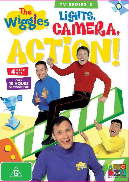 The wiggles tv series 3 lights camera action wiggles the a collection of all of the episodes were released on dvd on the 10th of december 2008 sciox Choice Image