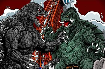 Image result for Godzilla vs Gamera