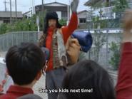Saburo bids farewell to everyone