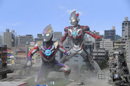 Ultraman orb and ultraman x