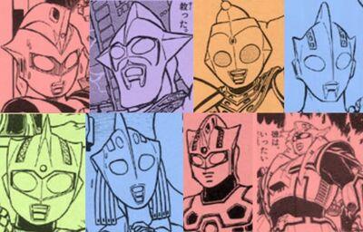 Ultraman Cruz, Elder, Pico, Tran, Tran's Mom, and Prometheus