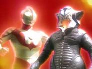 Alien Mefilas and Ultraman