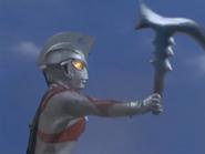 Ace holding Barabas's mace