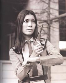 Akiko Fuji armed B&W