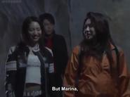 Marina smiles