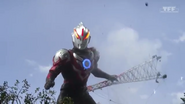 Orb Thunder Breaster loses control and destroys a high-tension pole