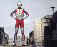 Ultraman in city
