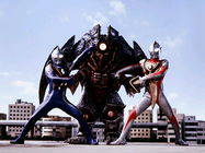 Kaizer Doboshi v Ultraman Agul & Ultraman Gaia