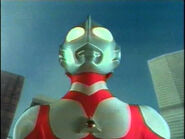 Ultraman Great about to fly off
