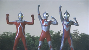 Seven, Ultraman, Tiga in Ginga