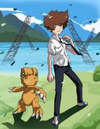 Digimon adventure tri taichi and agumon by deco kun-d8ldykk