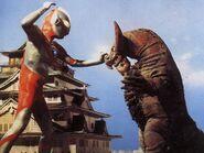 Ultraman hayata vs gomora