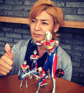 Takeshi & his Ultraman Dyna's collection