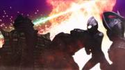 Ultraman Tiga and Ultraman Taro versus Golza and Temperor