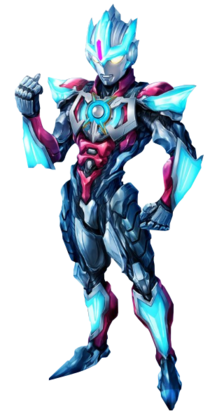 Ultraman Orb Lightning Attacker Art Render