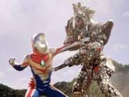 Deathfather v Ultraman Dyna