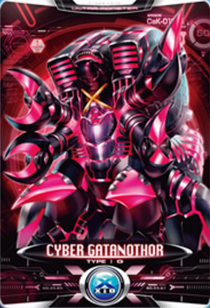Ultraman X Cyber Gatanothor Card