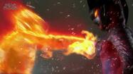 Glenfire punching Zero Darkness(Belial)
