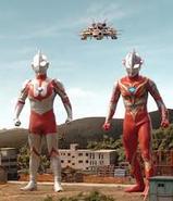 Mebius Burning and Ultraman