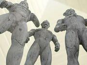 Tiga Statue Trio