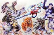 Ultraman vs Q monsters