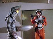 Mitsuhiro Ide with Alien Baltan