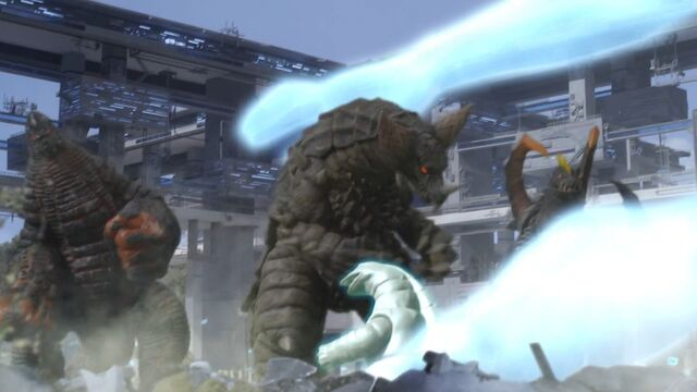 File:UX-EX Gomora, EX Red King and Tsurugi Demaaga Screenshot 001.jpg