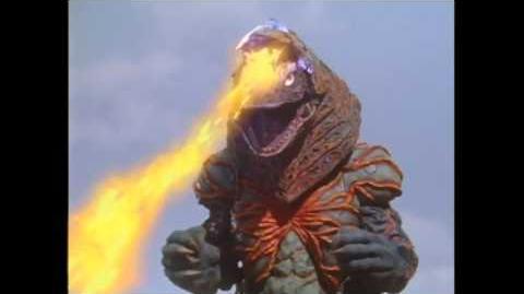 Ultraman Tiga vs Fire Golza