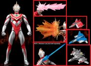Ultraman Gaia & XIG Fighter