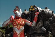 Mebius Burning Brave vs Imperaizer