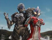 Mebius vs Alien Serpent